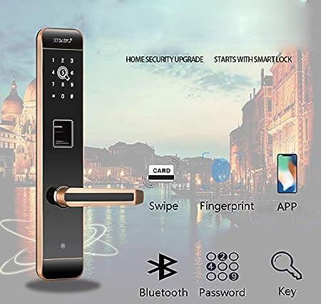 RSTJ-Sjfp Cerraduras Biométricas De Huellas Dactilares, Contraseña/App / Bluetooth/Tarjeta De Proximidad, Antirrobo Sin Llave De Seguridad, ...