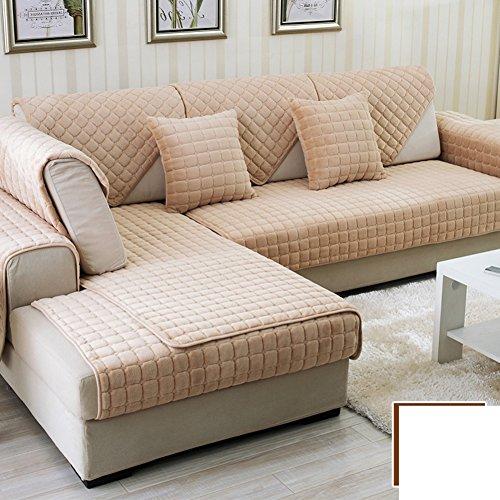 DW&HX winter Thicken Flannel plush Sofa cushions, Cover Anti-skidding Fabric Sofa cover Cushion-A 110x180cm(43x71inch) by DW&HX