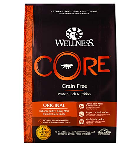 Wellness CORE High Protein Grain Free Natural Adult Dry Dog Food, Turkey