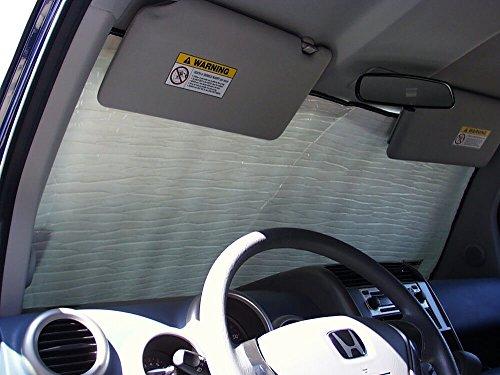 The Original Windshield Sun Shade, Custom-Fit for Honda Element SUV 2003, 2004, 2005, 2006, 2007, 2008, Silver Series - Honda Element Interior Accessories