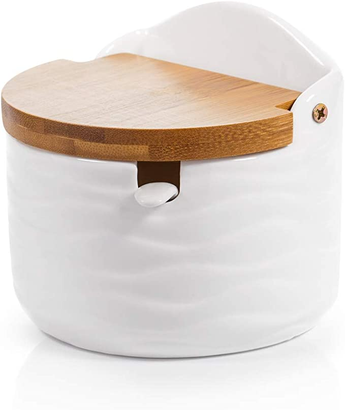 European Style Retro Embossed Crystal Glass Sugar Bowl Honey Candy Storage Jar Sugar Dispenser Container Seasoning Pot Box Condiment Spice Holder with Lid Dark Green