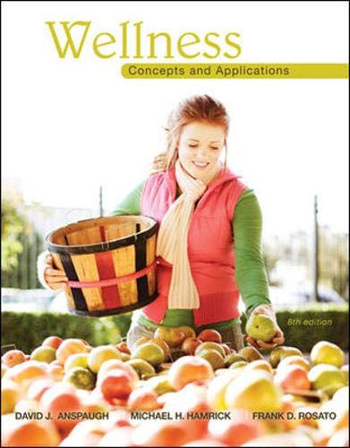 Wellness: Concepts and Applications