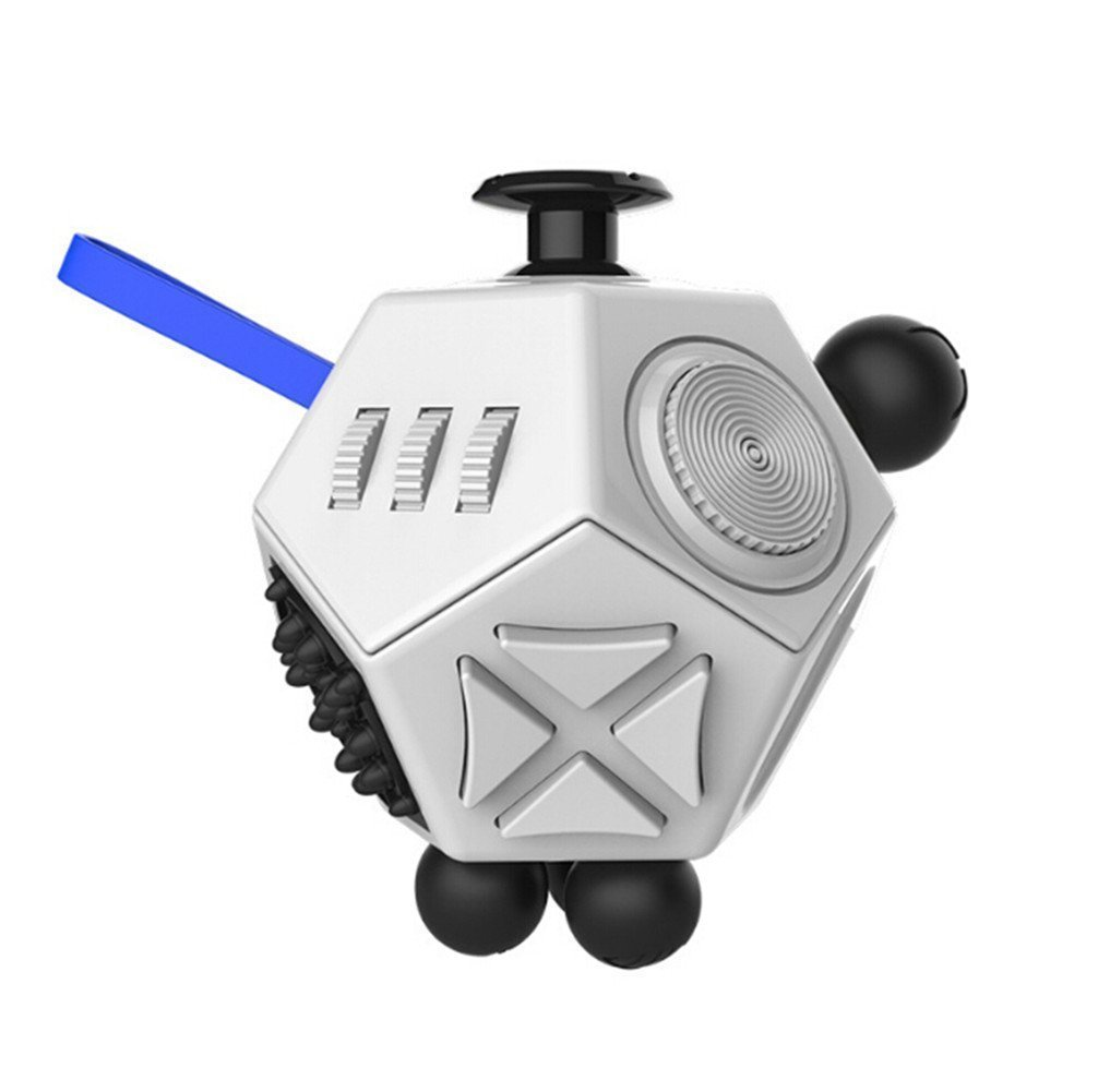 KCHKUI Fidget Toy Cube Stress Anxiety Cube Toy Relieves Stress and Anxiety and Relax for Children and Adults - 12 Sides Fidget Dice