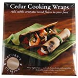 Nature's Cuisine WRP004 6-Inch x 6-Inch Cedar Wraps, 12 per pack (Wood)