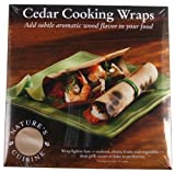 Nature's Cuisine WRP004 12 Cedar Cooking Wraps, 6-Inch by 6-Inch