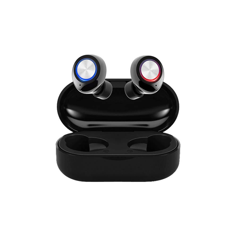 RONSHIN Headphones/Earphones/Earbuds TW60 TWS Wireless Earphone Bluetooth 5.0 HiFi Stereo Headset Handsfree Call Sport Dual Earbuds Built-in HD Mic White by RONSHIN