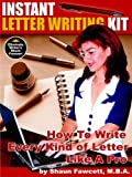 Instant Letter Writing Kit, Shaun Fawcett, 0973626526