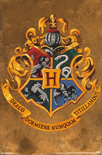 Trends International Harry Potter Hogwarts Text Wall Poster 22.375
