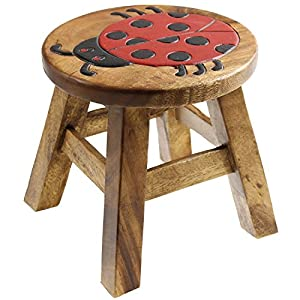 Ladybird Wooden Animal Stool Hand Painted Design Kids Children Stool Seat Chair  sc 1 st  Amazon UK : wooden kids stools - islam-shia.org