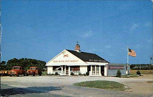 - Bass River Fish Market and Clam Bar South Yarmouth, Massachusetts Original Vintage Postcard