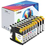 Odoga 10 Pack LC103XL LC103 LC101 Ink Cartridge, High Yield Combo Pack Replacement for for Brother MFC-J450DW J470DW J475DW J870DW J4510DW J6920DW J4710DW [4 Black, 2 Cyan, 2 Magenta, 2 Yellow]