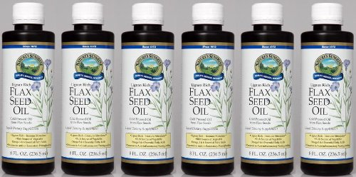 FLAX SEED OIL LIQUID (8 FL OZ), Liquid Dietary Supplement, Kosher, ''FAST SHIPPING'' 6 PACK SAVING! by Nature's Sunshine
