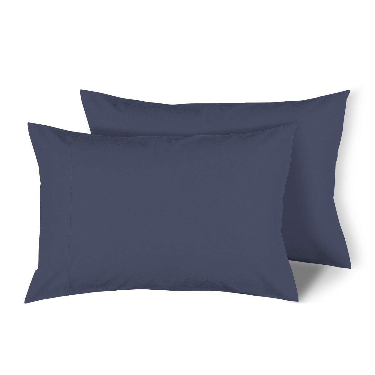 H Bedding Extra Soft Microfiber Pillow cases - Standard, Set of 2, Navy Blue