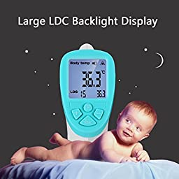 BSTPOWER Forehead and Ear Thermometer Baby Medical Infrared Instant Read Digital Non-Contact Thermometer Gun for Infants and Adults with Body & Surface Modes