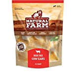 Natural Farm All Natural Whole Cow Ears for Dogs