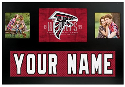 Atlanta Falcons Picture Frame - Atlanta Falcons NFL Custom Jersey Nameplate and Logo Picture Frame