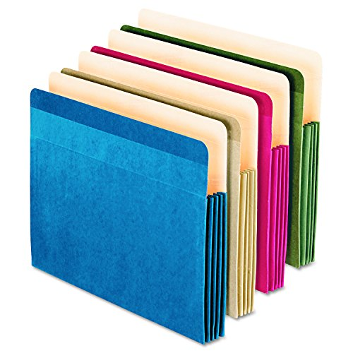 Esselte Coloured Pocket - Pendaflex Recycled Colored File Pocket, Letter Size, Assorted, 4 per Pack (90164)