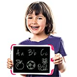 Simicore 8.5 inch LCD Writing Tablet - Gift for Kids Doodle Board Learning Toy Magnetic Drawing Board Doodle Pad with Erase Button and Lock (Pink)
