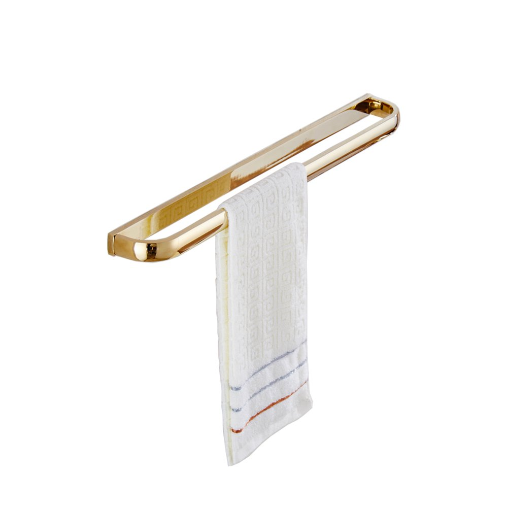 Aothpher Wall Mounted Bathroom Approx 24 Inch Double Towel Bar Rack Towel Rail Holder, Gold Polished