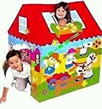 Toyboy Betty Play Tent House (with wheels) for Kids - Print May Vary