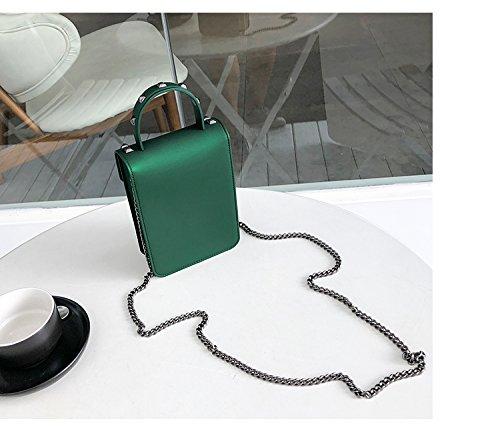 Green color Diagonales Versátil Bolsas S Ywx Gold Hombro De La Cadena Las Packs Bolso Size Moda Invierno Mujer Señoras Bolsos Nuevos Para Jelly qwFBvwU