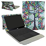 """Acer Switch Alpha 12 Case,Mama Mouth 2-in-1 Romovable Portfolio PU Leather Folio Stand Cover For 12"""" Acer Aspire Switch Alpha 12 Windows 10 Detachable Convertible Laptop Tablet,Love Tree"""