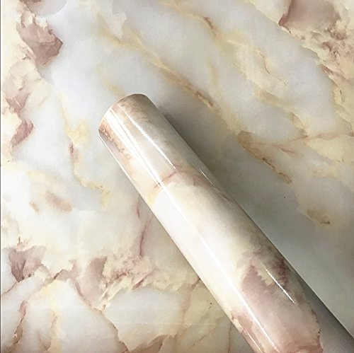 Temall A535 jade Look Marble Effect Contact Paper Self Adhesive Pre-pasted Wallpaper 24''x60'' by Teemall