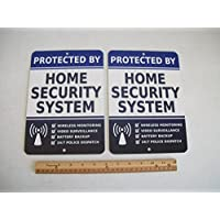 2 Home Security Alarm System 7x10 Metal Yard Signs - Stock # 713