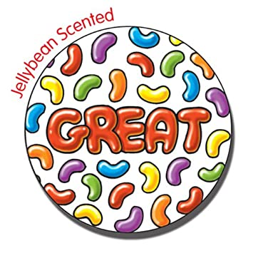 Jellybean scented great stickers 37 millimetres x 30 primary teaching services