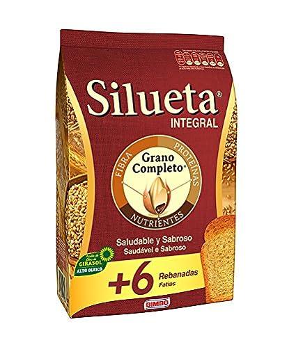 Silueta Pan Tostado Integral, Grano Completo - 324 g
