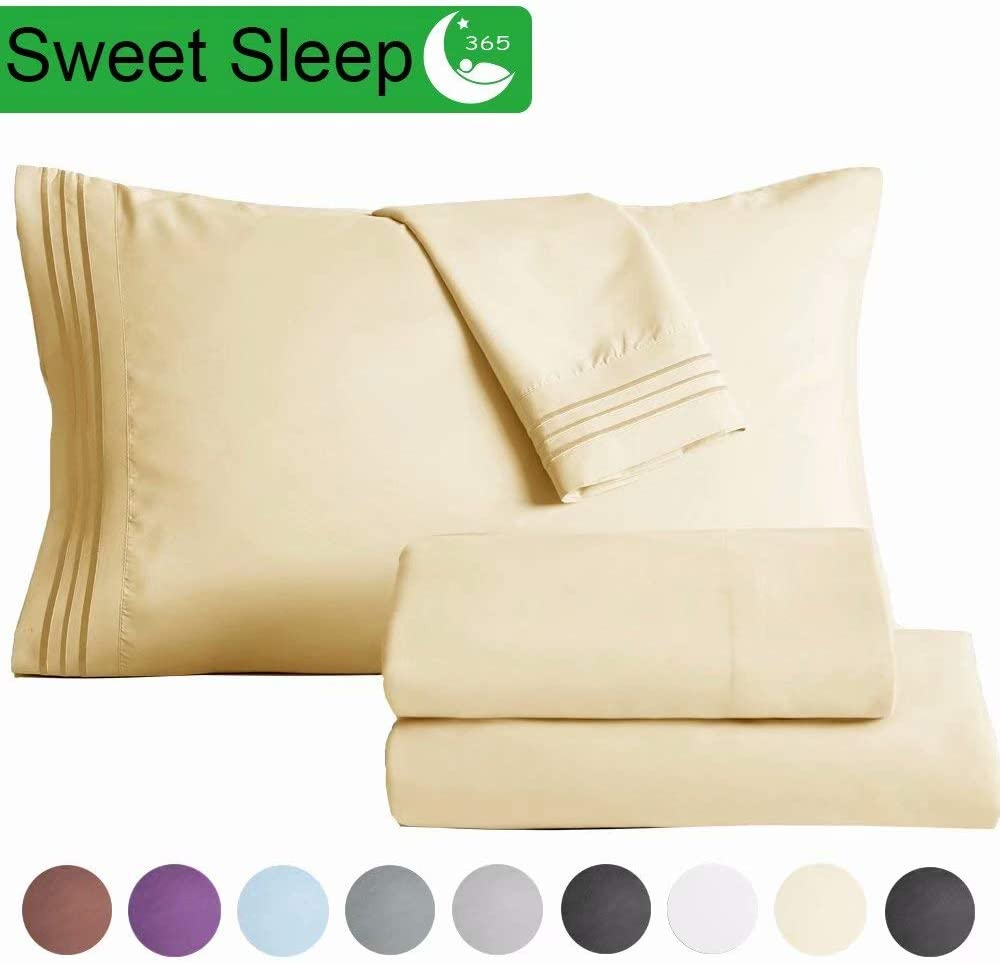 4pc Brushed Micro Fiber Bed Sheets Set King Size.