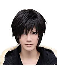 Mens Boys Cosplay Party Short Wig Black