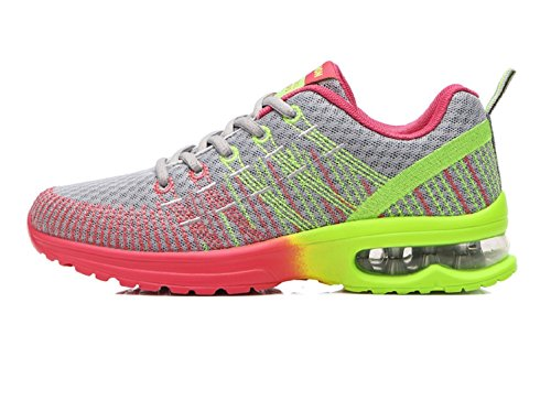 Womens Rose Mens Shoes Running Trainers Sport Gym Athletic Grey Lightweight Colorful Breathable Black Footwear Grey NEOKER FgwqTT