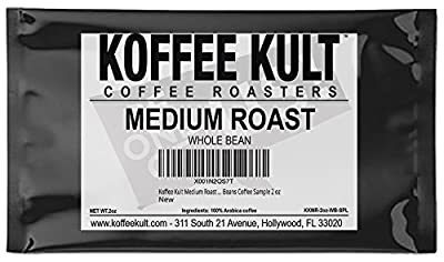 Koffee Kult Medium Roast Coffee Beans | Whole Beans Coffee Sample 2 oz