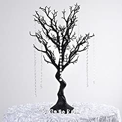 "Efavormart 30"" Glittered Manzanita Centerpiece Tree for Wedding Banquet Birthday Party Event Tabletop Decorations - Black"