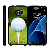 Samsung Galaxy S7 Case | G930 [Slim Duo] Fitted 2 Piece Hard Snap On Case Rubberized Coat on Black Sports and Games Design by TurtleArmor - Golf Ball Tee