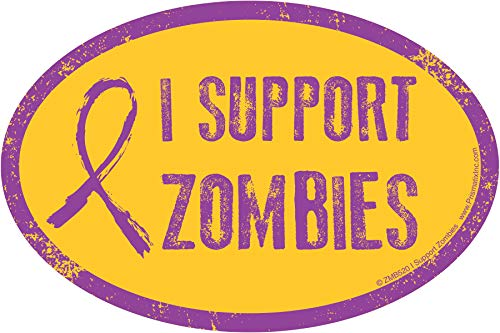 Zombie Lover Magnets: I Support Zombies Zombies Magnet - Zombie Apocalypse is Coming (Pranks, I Supoort Zombies)