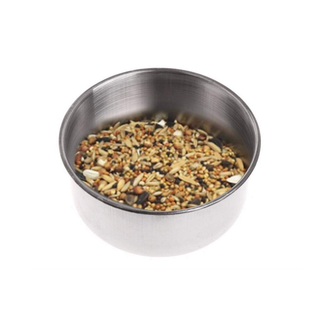 Welltobuy Pet feeder ciotola in acciaio INOX per la pappa, con una staffa da appendere in gabbia ciotola rimovibile per pappagallo gatto cucciolo roditori Welltobuy-555