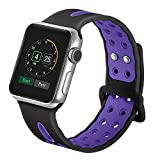 38mm/42mm Soft Silicone Watch Band for Apple Watch, Kobwa Quick Release Ventilation Holes Breathable Replacement Sport Bracelet Strap for Apple Watch Series 1 Series 2 Nike+