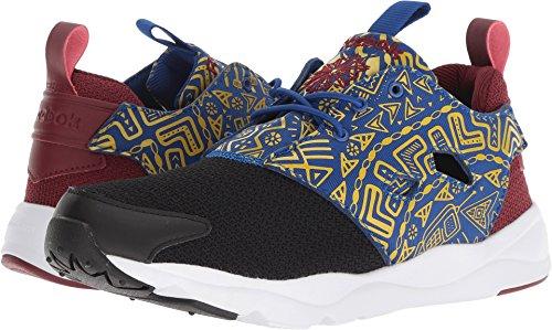 Reebok Furylite AFR Women's Fashion Sneakers Size US 8.5, Regular Width, Color Black/Blue/Yellow by Reebok