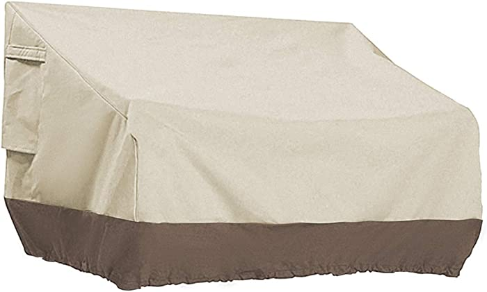 PHI VILLA Patio Bench Cover-Outdoor Loveseat Lounge Cover, Small