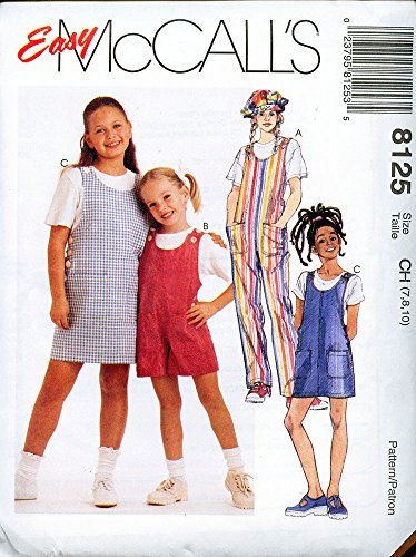 (McCall's 8125 ©1996 Children & Girls, Jumpsuit, Romper and Jumper; Size CH (7,8,10))