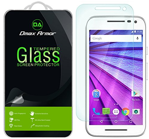 Dmax Armor Tempered Glass Round Edge Clear Screen Protector for Moto G (3rd Gen) - Retail Packaging