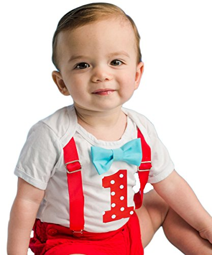 Noah's Boytique Baby Boys First Birthday Outfit Polka