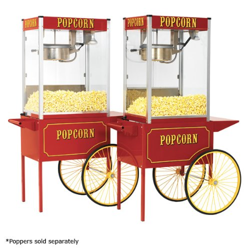 Paragon Large Popcorn Cart for 12 and 16-Ounce Poppers (Red)