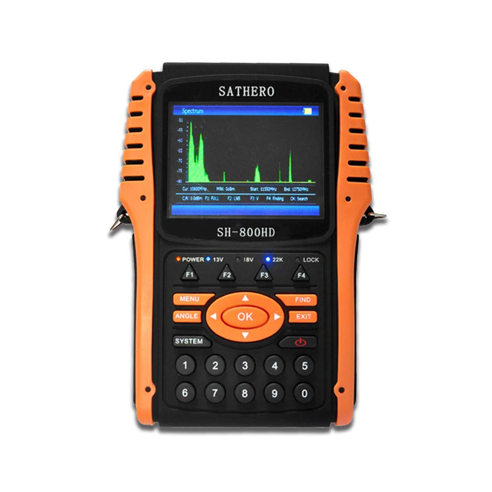 Festnight SATHERO SH-800HD Global Universal TV Signal Finder Meter DVB-S/S2 Full HD 1080P Digital Meter H.264 MPEG-4 with 3.5 Inch LCD Display 2550mAh Battery US Plug by Festnight