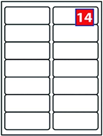 25 fogli A4 bianco Indirizzo Etichette 14 per foglio