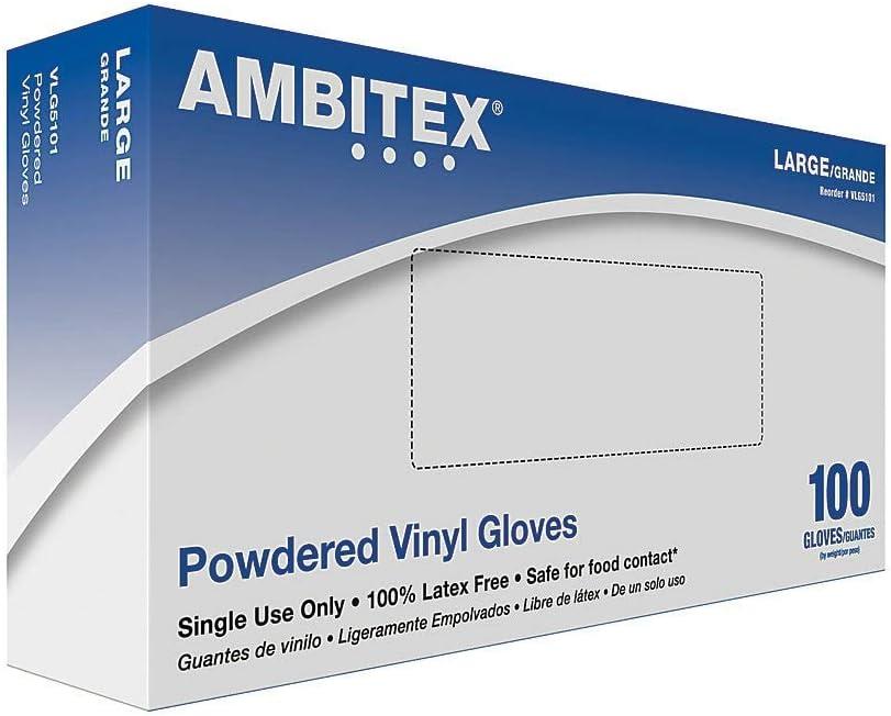 Tradex Vinyl Gloves, Powdered Multi-Purpose, Large