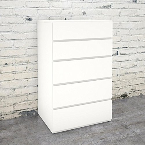 Nexera 221503 5-Drawer Chest, White by Nexera