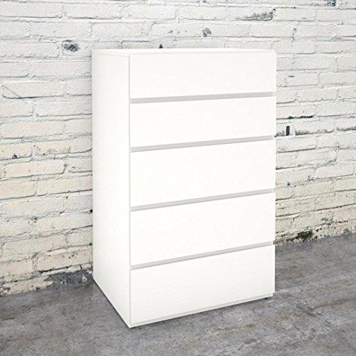 Nexera 221503 5-Drawer Chest, White